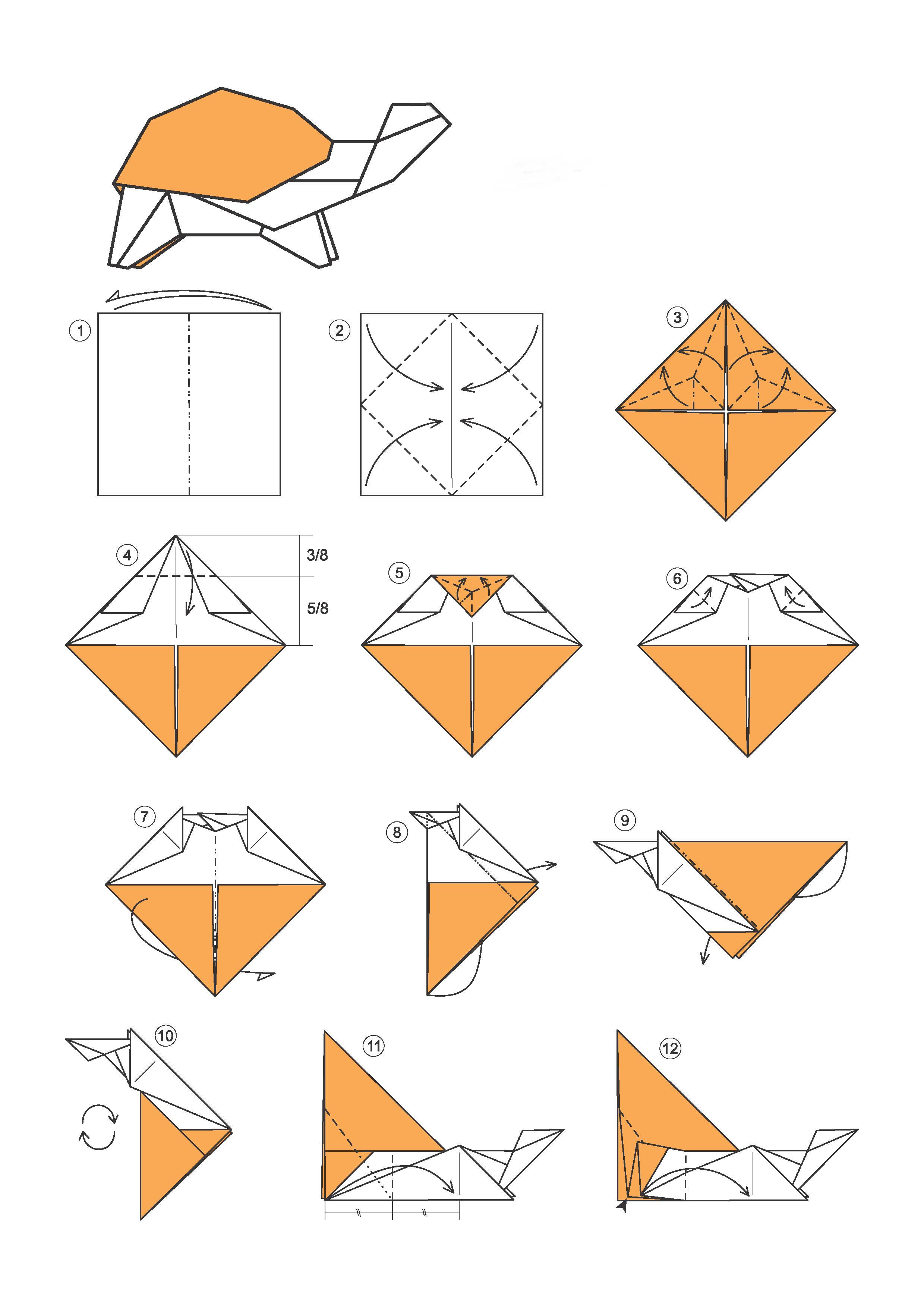 Как сделать поделку оригами из бумаги 48